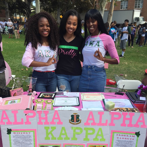 b91969b73 Alpha Gamma at the Enormous Activities Fair registering students to vote